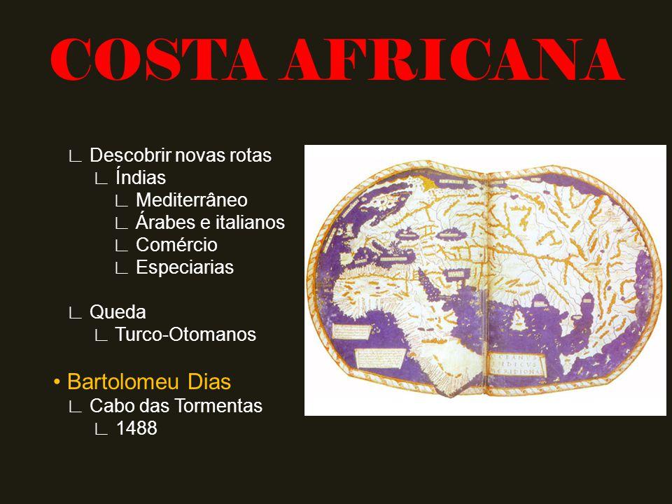 COSTA AFRICANA • Bartolomeu Dias ∟ Descobrir novas rotas ∟ Índias