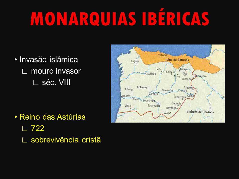 MONARQUIAS IBÉRICAS • Invasão islâmica ∟ mouro invasor ∟ séc.