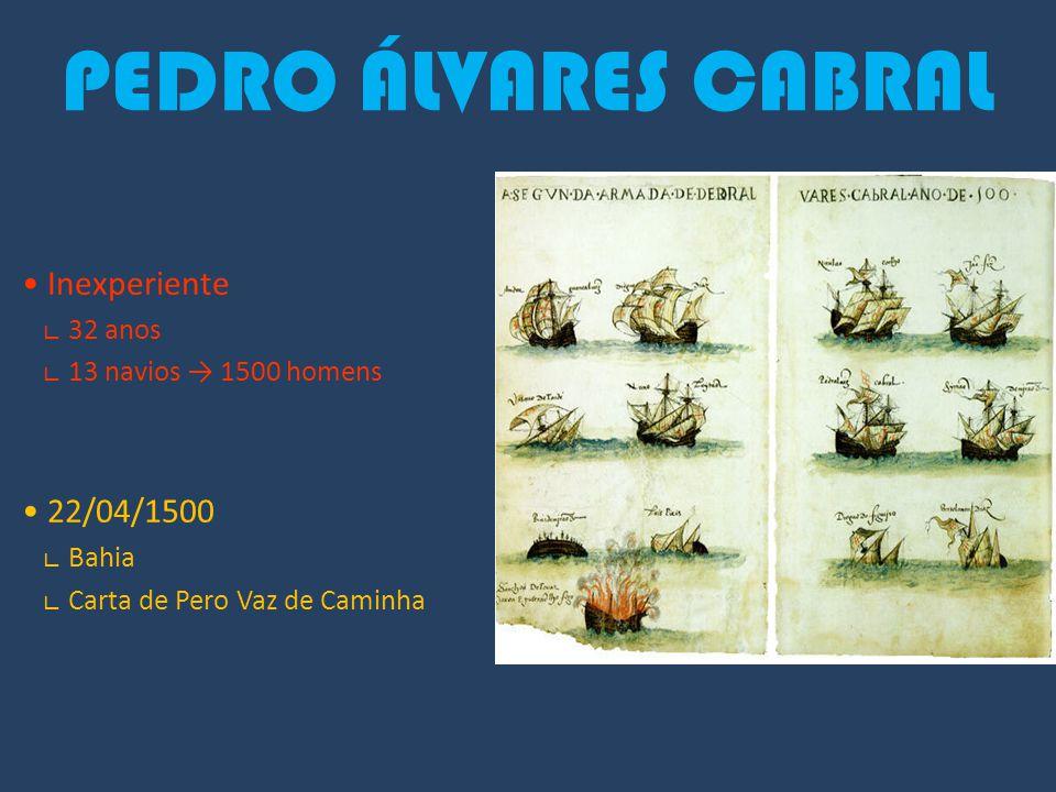 PEDRO ÁLVARES CABRAL • Inexperiente • 22/04/1500 ∟ 32 anos