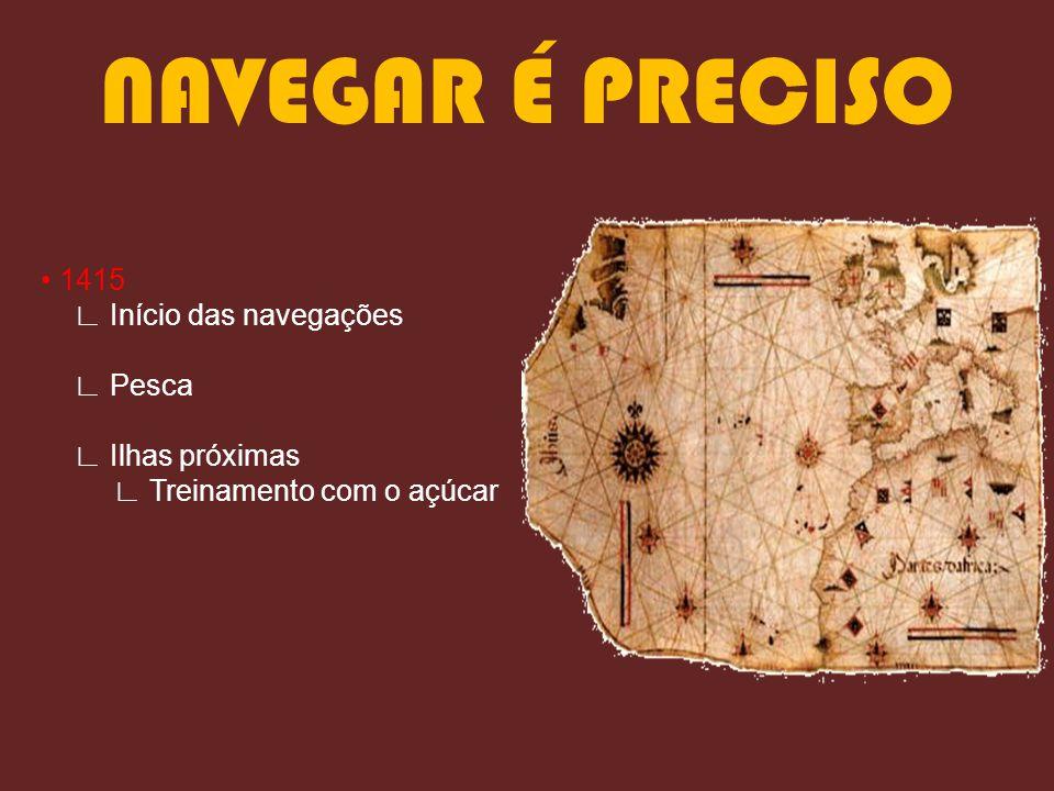 NAVEGAR É PRECISO • 1415 ∟ Início das navegações ∟ Pesca ∟ Ilhas próximas ∟ Treinamento com o açúcar