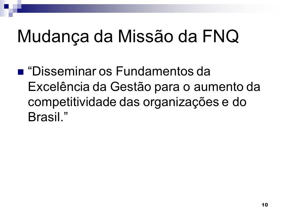 Mudança da Missão da FNQ