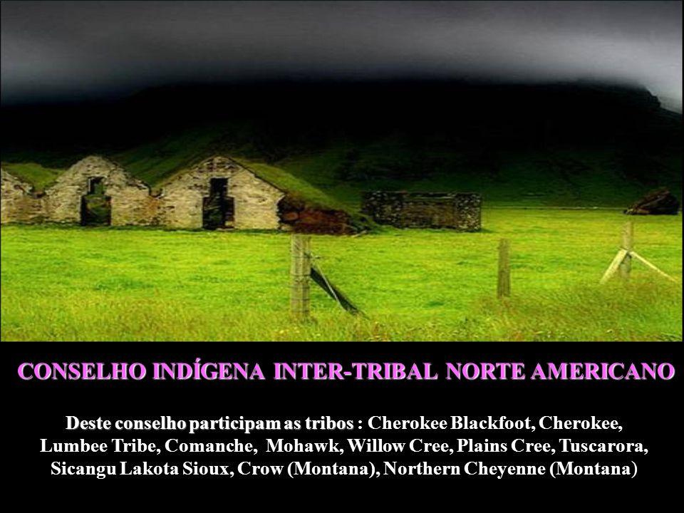 Deste conselho participam as tribos : Cherokee Blackfoot, Cherokee,