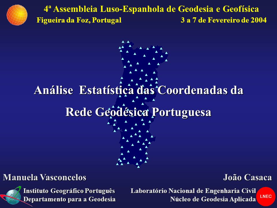 Análise Estatística das Coordenadas da Rede Geodésica Portuguesa