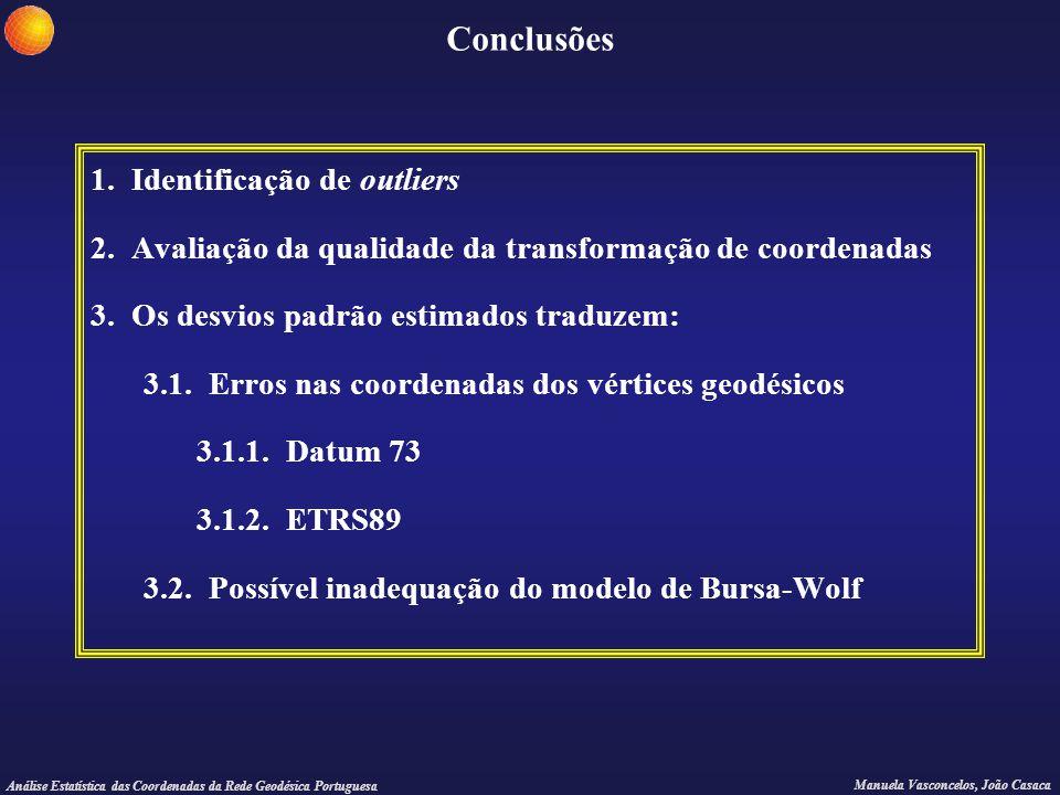 Conclusões 1. Identificação de outliers