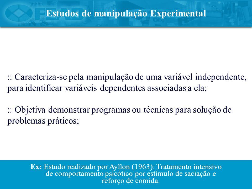 Estudos de manipulação Experimental