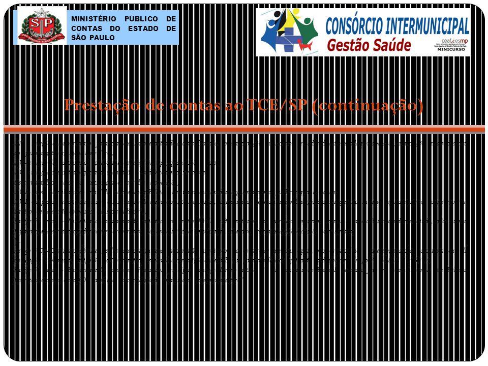 Prestação de contas ao TCE/SP (continuação)