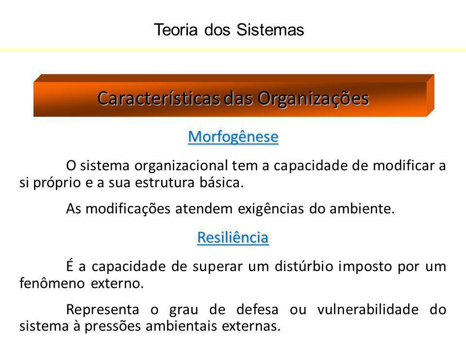 Características das Organizações