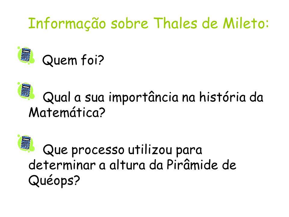 Informação sobre Thales de Mileto: