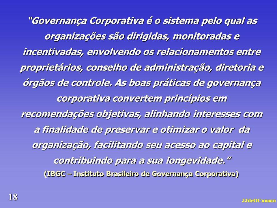 (IBGC – Instituto Brasileiro de Governança Corporativa)