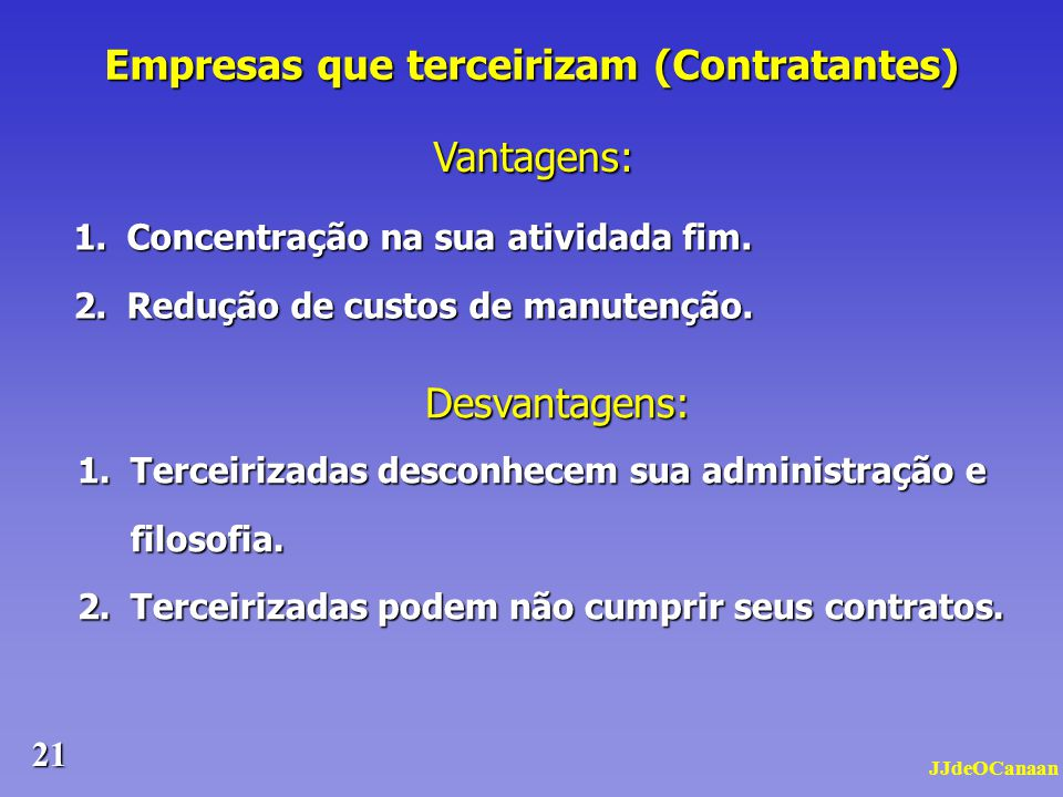 Empresas que terceirizam (Contratantes)
