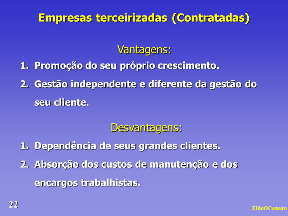 Empresas terceirizadas (Contratadas)