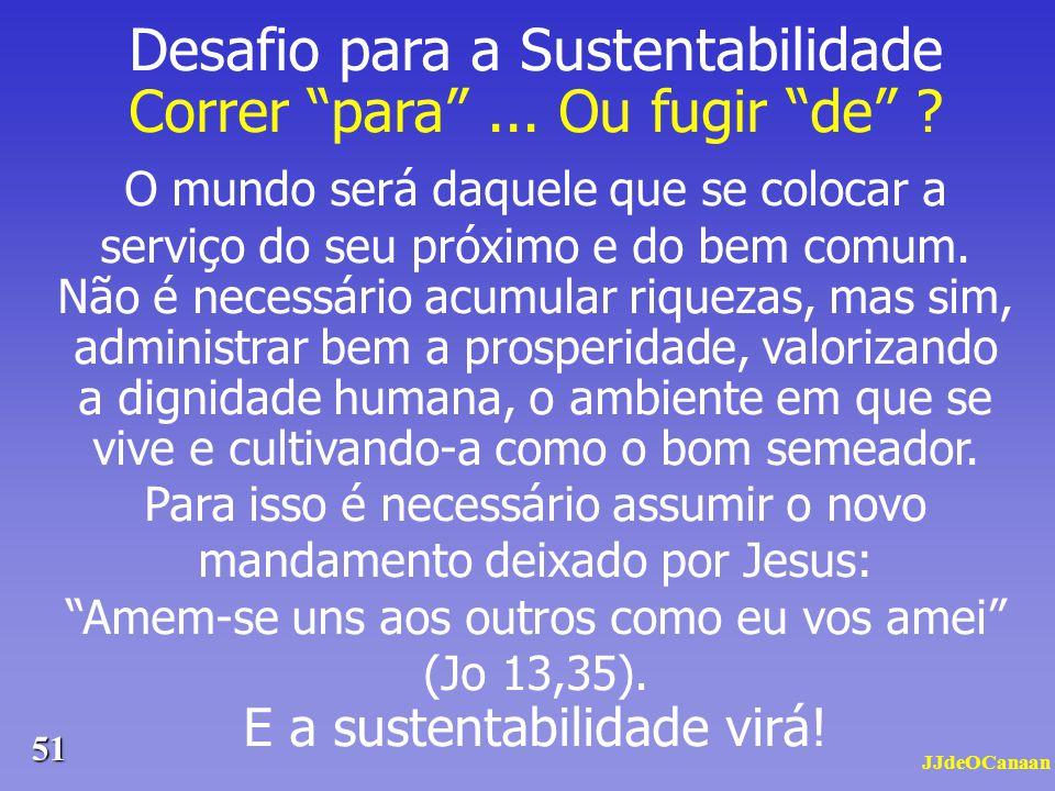 Desafio para a Sustentabilidade Correr para ... Ou fugir de