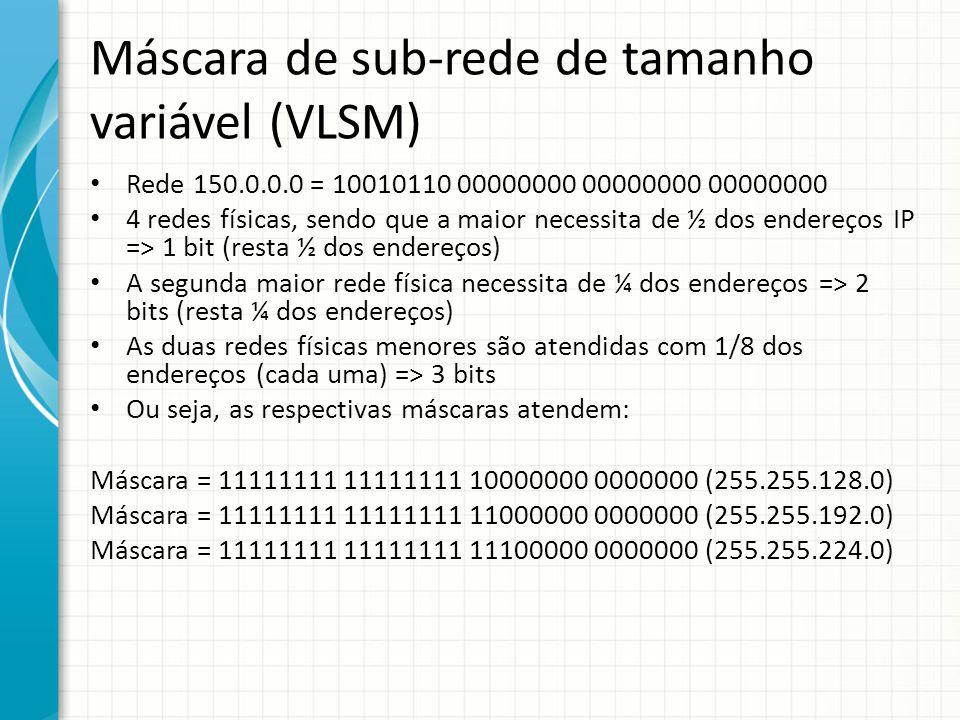 Máscara de sub-rede de tamanho variável (VLSM)
