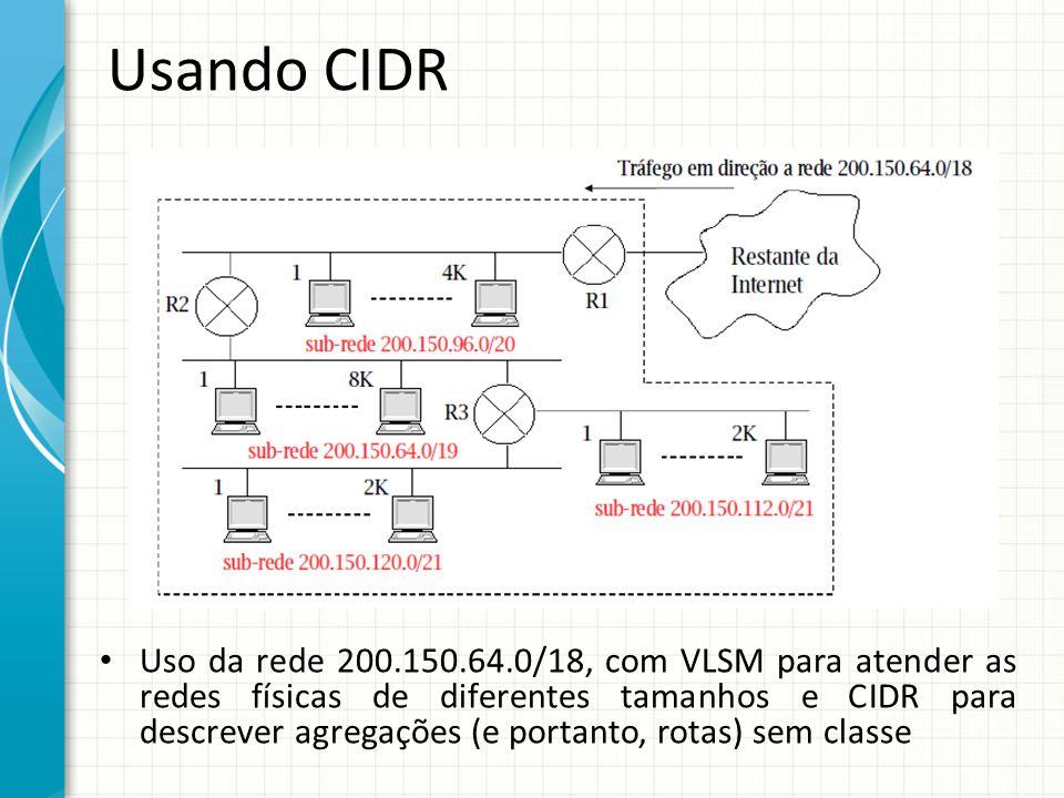 Usando CIDR
