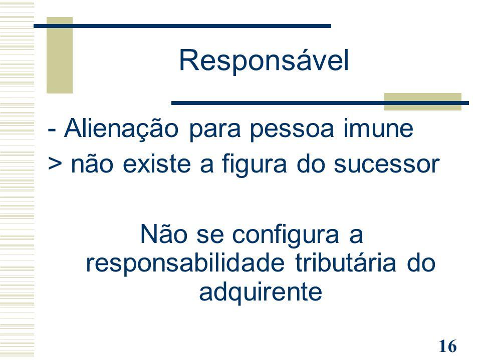 Não se configura a responsabilidade tributária do adquirente