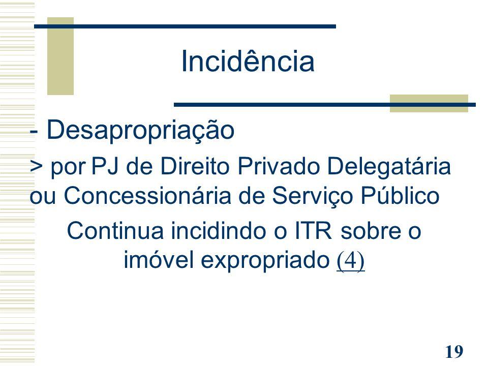 Continua incidindo o ITR sobre o imóvel expropriado (4)