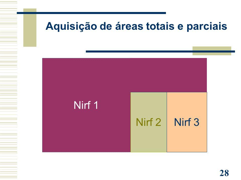 Aquisição de áreas totais e parciais