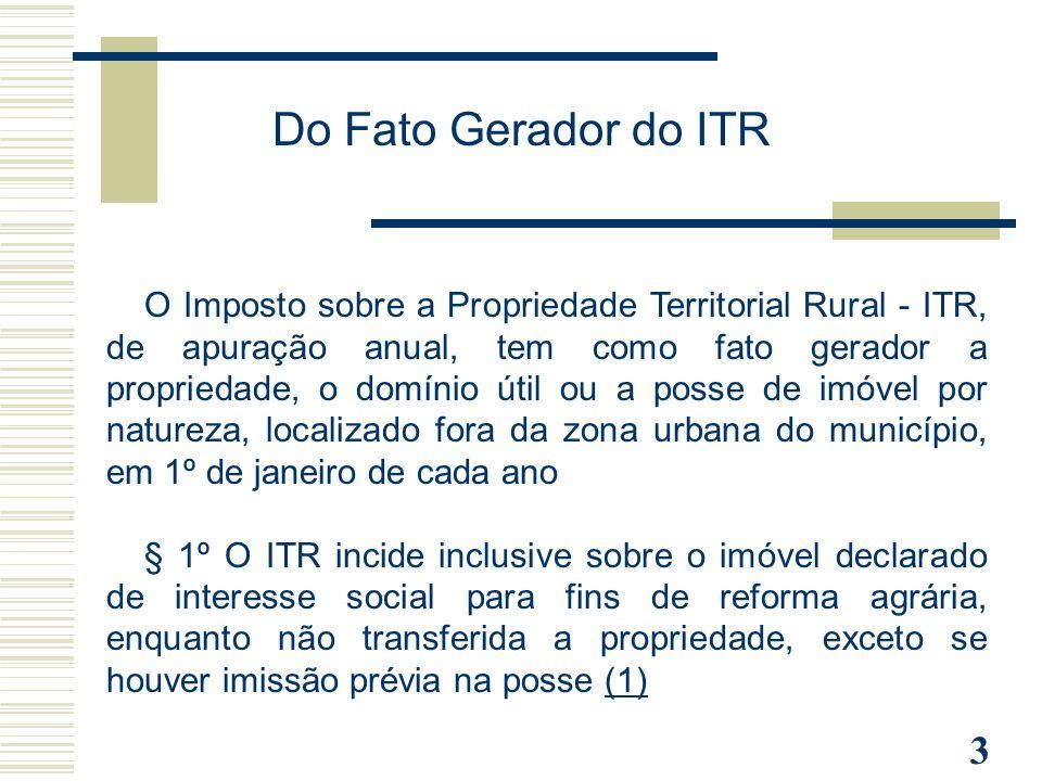 Do Fato Gerador do ITR