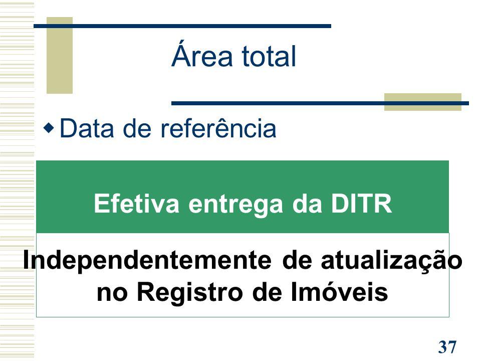 Efetiva entrega da DITR Independentemente de atualização