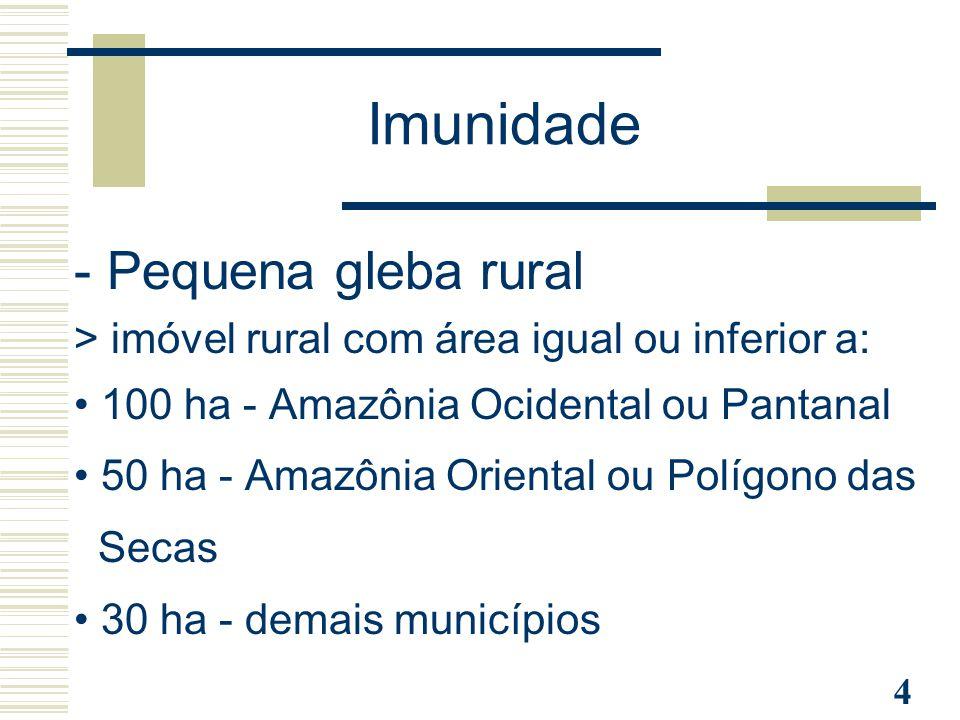 Imunidade - Pequena gleba rural