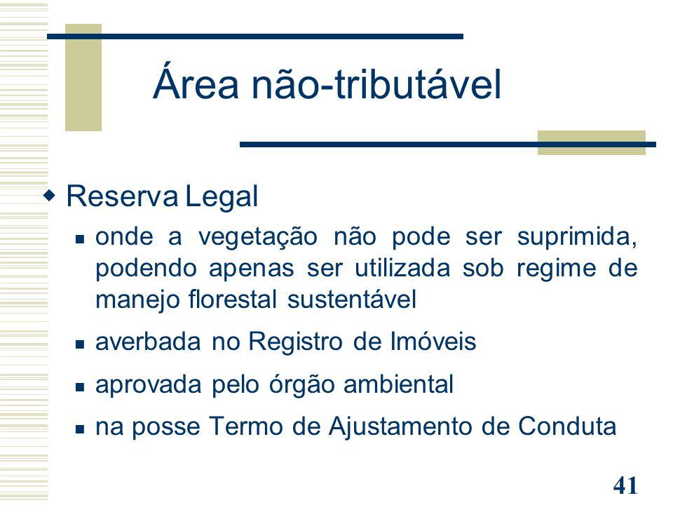 Área não-tributável Reserva Legal