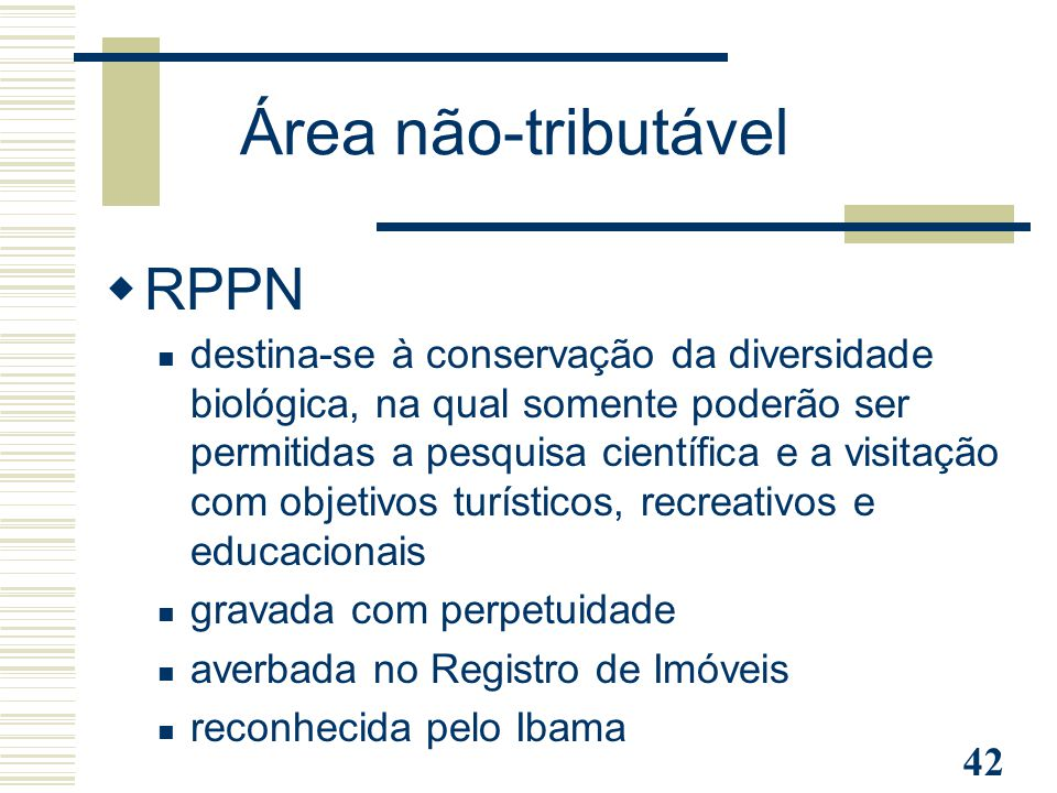 Área não-tributável RPPN