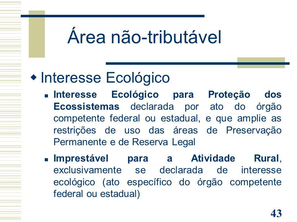 Área não-tributável Interesse Ecológico