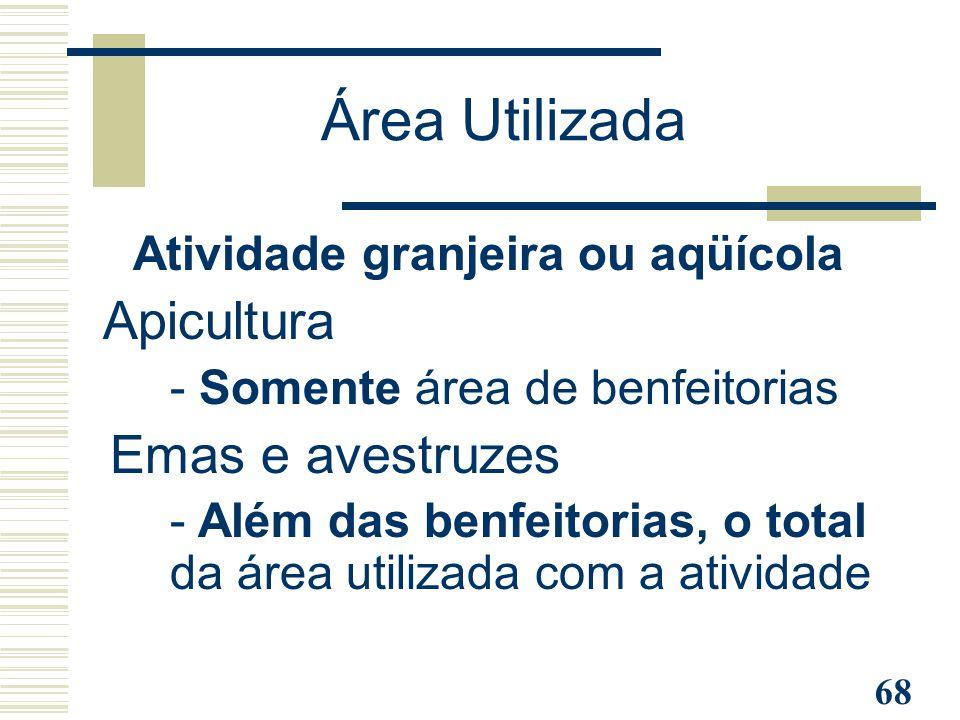 Atividade granjeira ou aqüícola