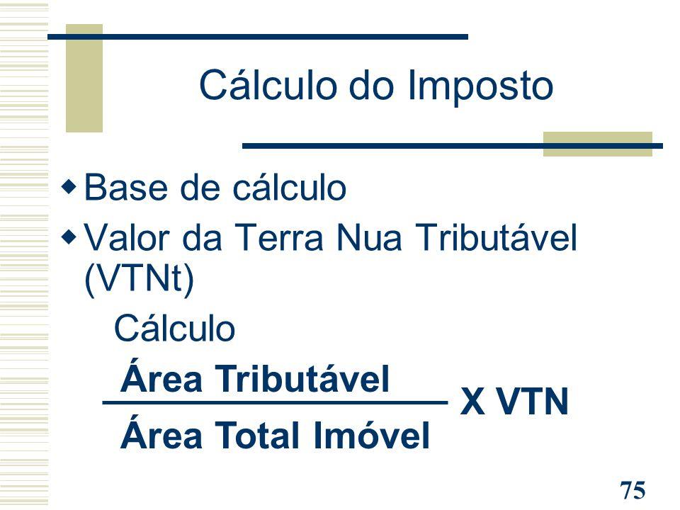 Cálculo do Imposto Base de cálculo