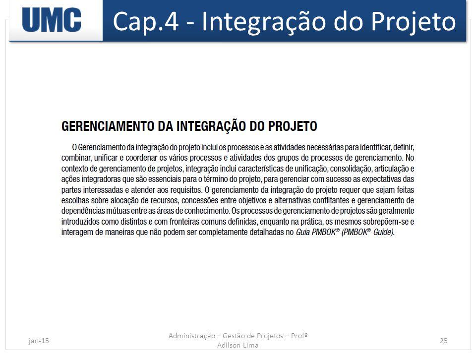 Cap.4 - Integração do Projeto