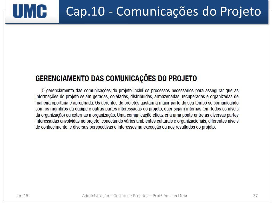 Cap.10 - Comunicações do Projeto