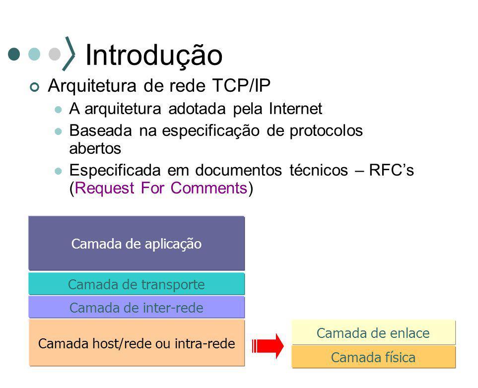 Camada host/rede ou intra-rede