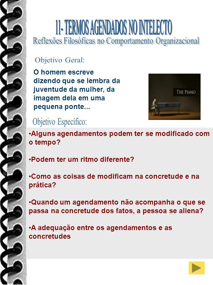 Objetivo Geral: Objetivo Específico: 11- TERMOS AGENDADOS NO INTELECTO