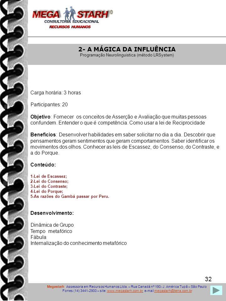 2- A MÁGICA DA INFLUÊNCIA