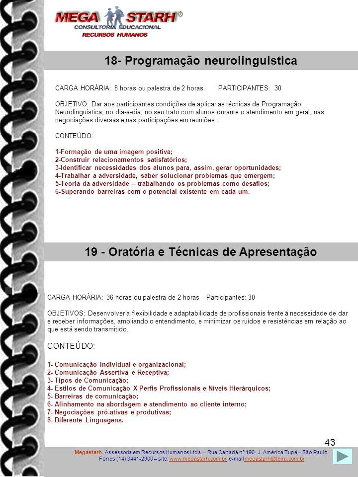 18- Programação neurolinguistica