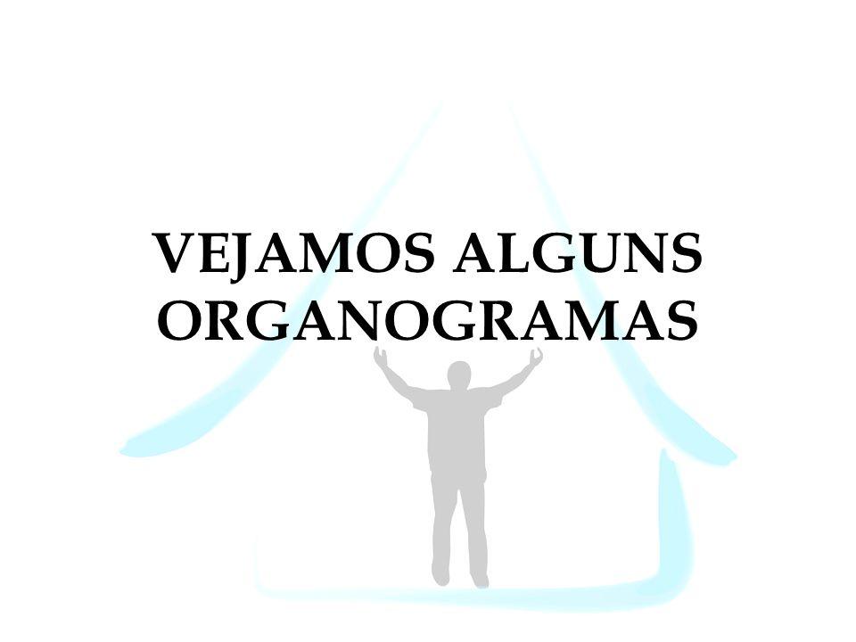VEJAMOS ALGUNS ORGANOGRAMAS