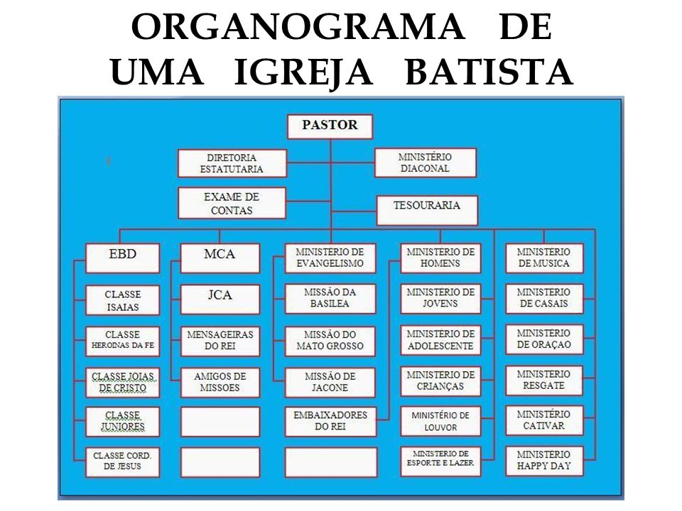 ORGANOGRAMA DE UMA IGREJA BATISTA