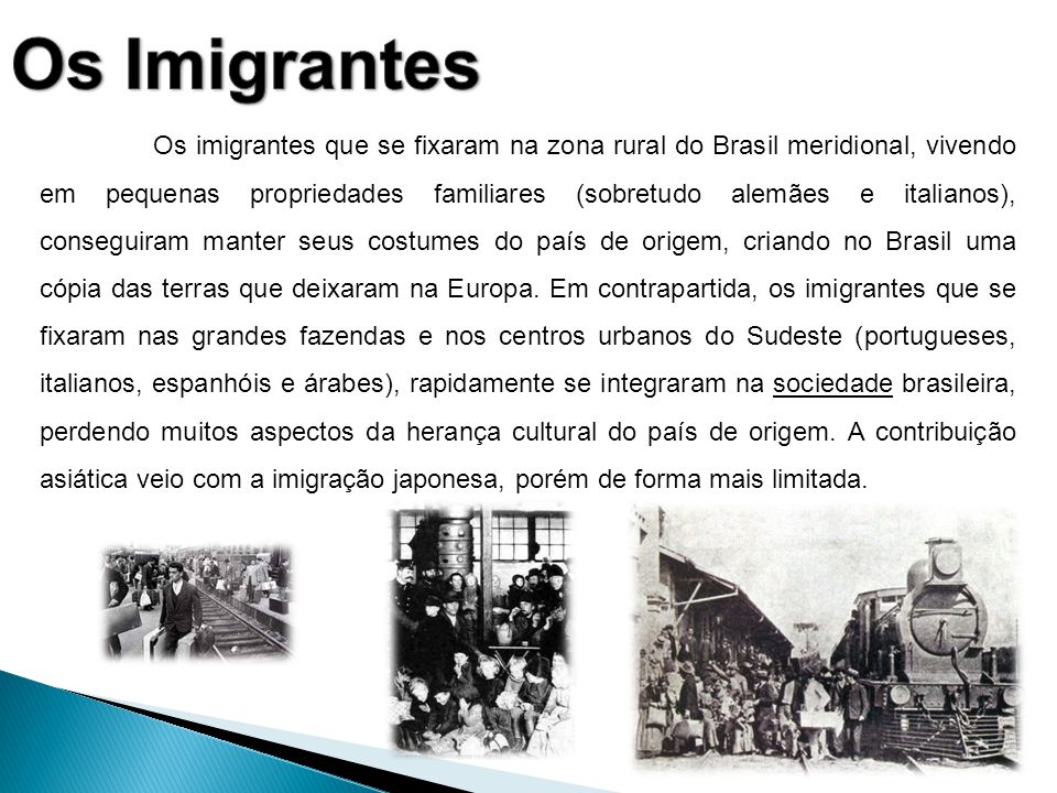 Os Imigrantes