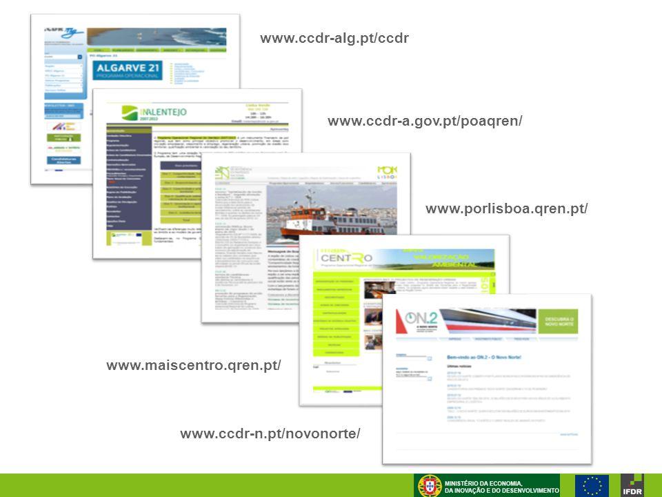 www.ccdr-alg.pt/ccdr www.ccdr-a.gov.pt/poaqren/ www.porlisboa.qren.pt/