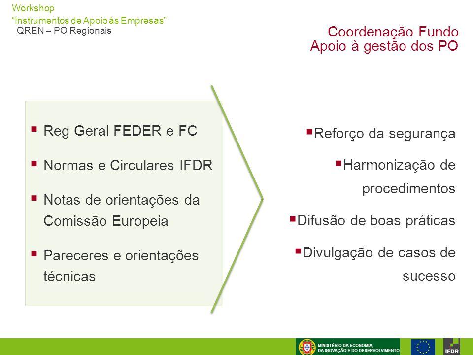 Coordenação Fundo Apoio à gestão dos PO