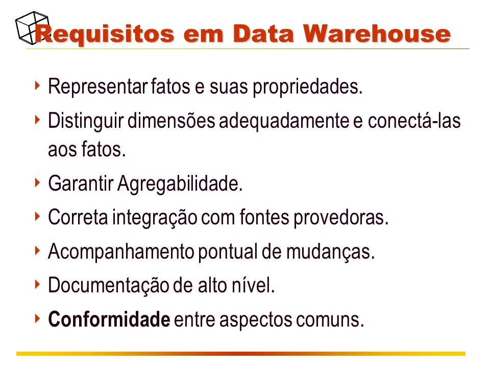 Requisitos em Data Warehouse