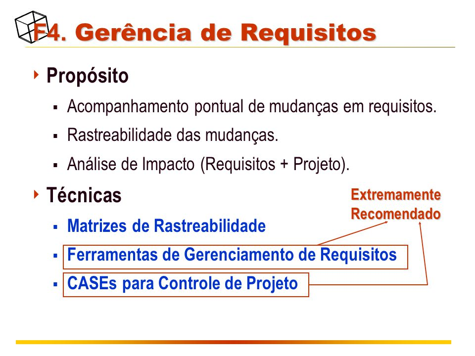 F4. Gerência de Requisitos