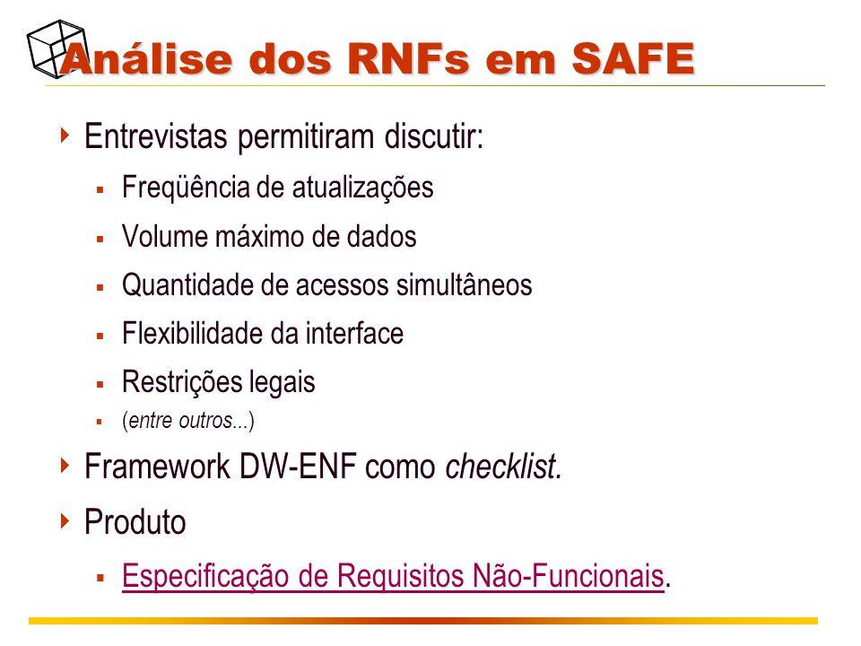Análise dos RNFs em SAFE