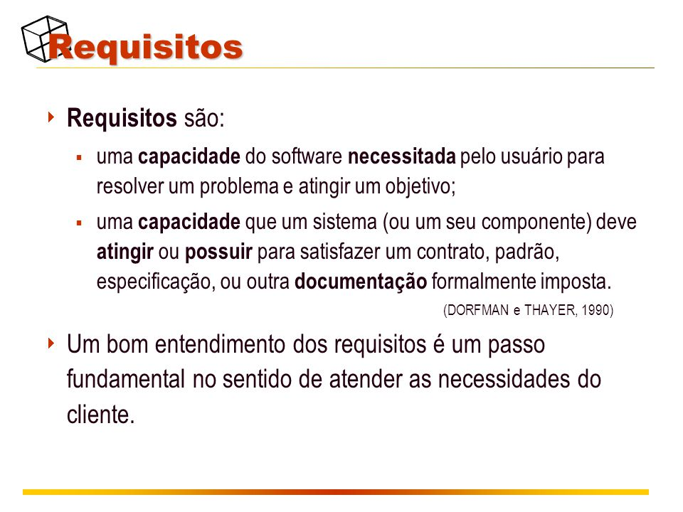 Requisitos Requisitos são: