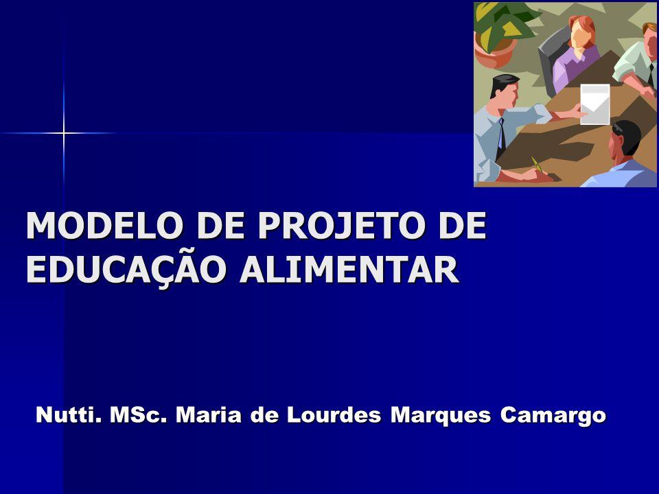 MODELO DE PROJETO DE EDUCAÇÃO ALIMENTAR