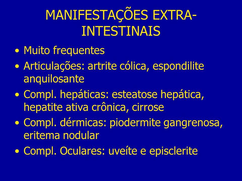 MANIFESTAÇÕES EXTRA-INTESTINAIS