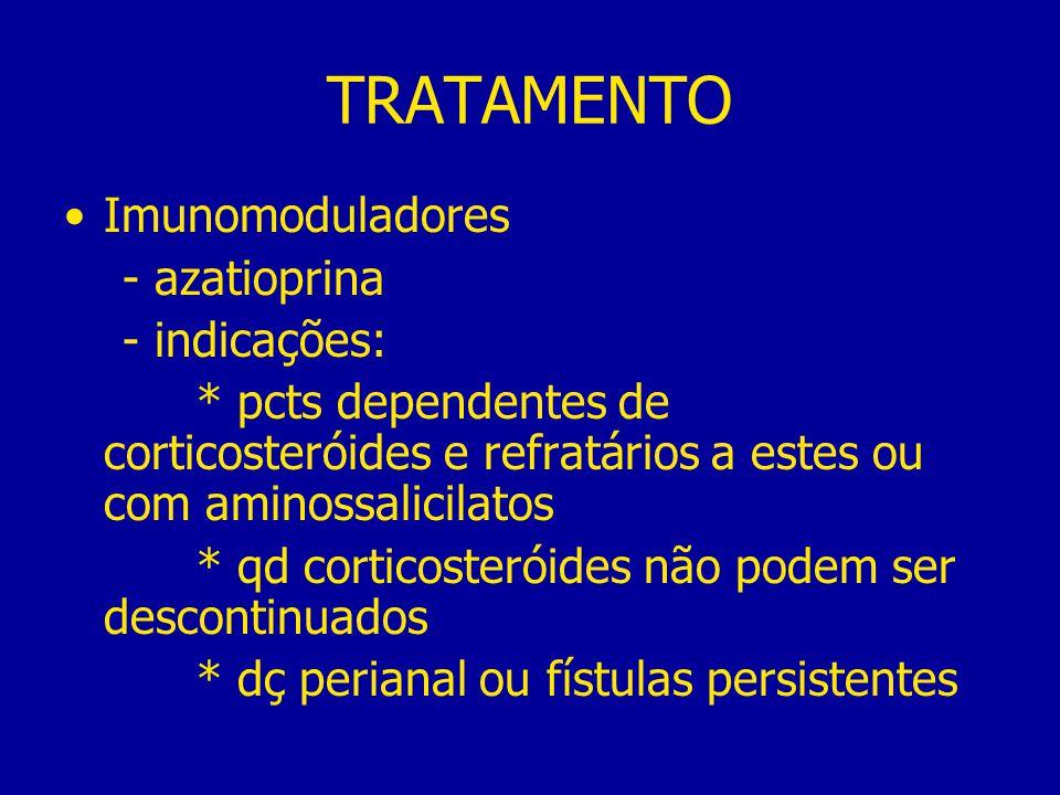 TRATAMENTO Imunomoduladores - azatioprina - indicações: