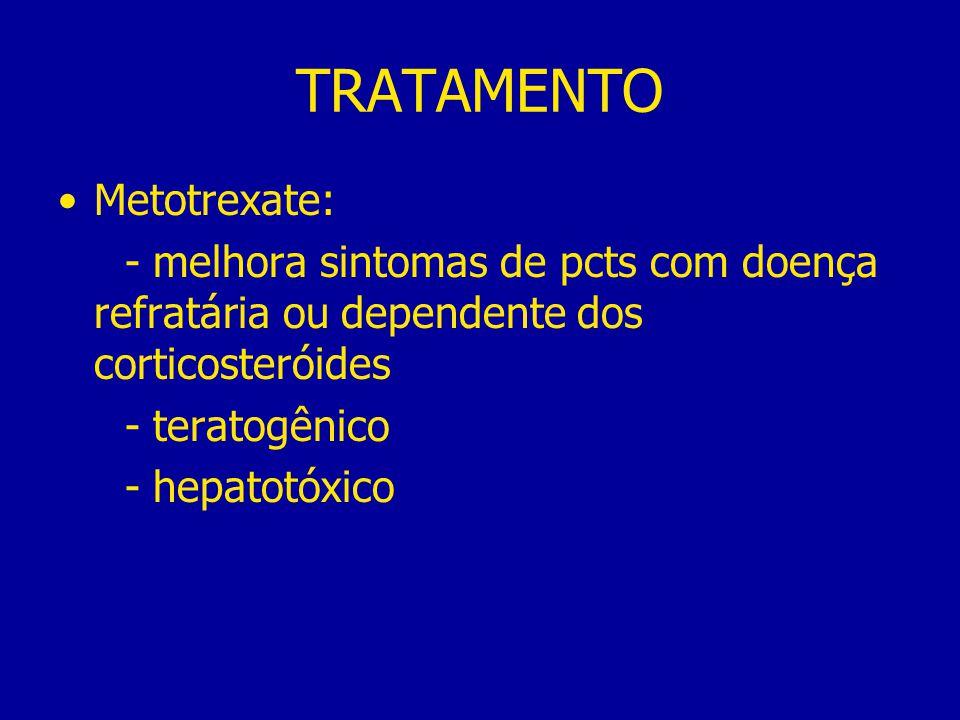 TRATAMENTO Metotrexate:
