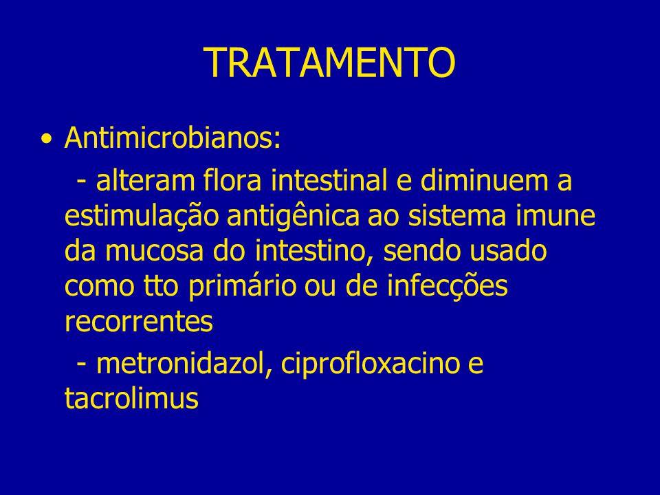 TRATAMENTO Antimicrobianos: