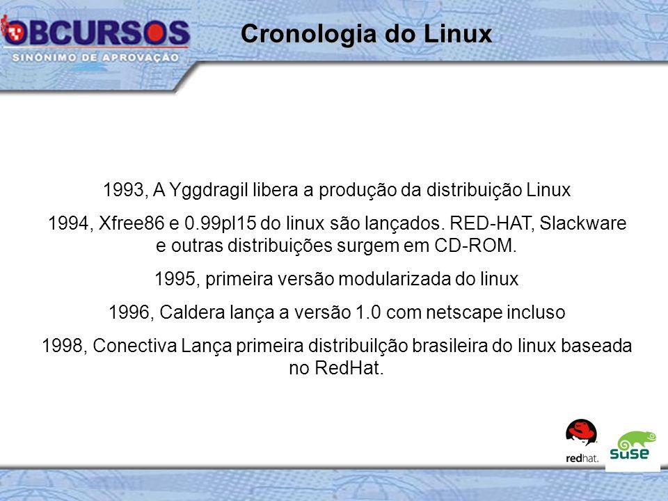 Cronologia do Linux 1993, A Yggdragil libera a produção da distribuição Linux.